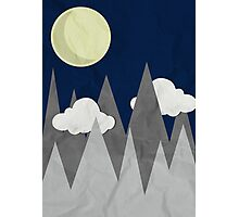 Moon in the Mountains Photographic Print