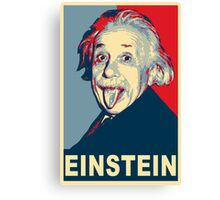 Albert Einstein Portrait pulling tongue Campaign Design  Canvas Print