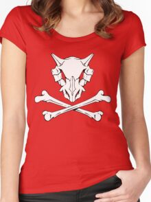 Cubone Skull Women's Fitted Scoop T-Shirt