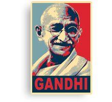 Mahatma Gandhi portrait Campaign Design  Canvas Print