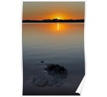 Sunset on Salt Lake Poster