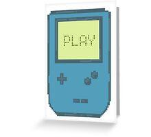 Pixel Gameboy - PLAY Greeting Card