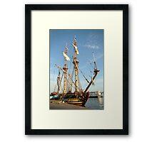 """Tall ship """"frigate Shtandart"""" Framed Print"""