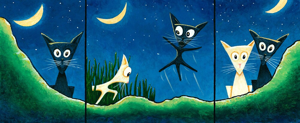 Black Cat, White Cat by RedLlama