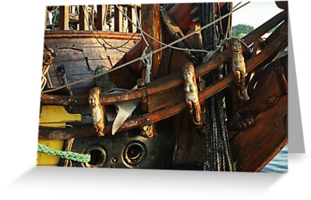"""Elaborate crafted bow of """"frigate Shtandart"""" by steppeland"""