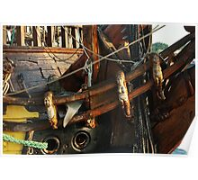 "Elaborate crafted bow of ""frigate Shtandart"" Poster"