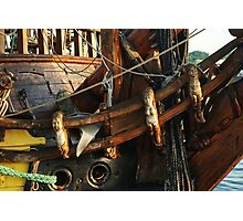"Elaborate crafted bow of ""frigate Shtandart"" Photographic Print"