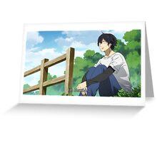 Barakamon: Sensei Greeting Card