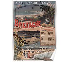 Gustave Fraipont Affiche PO Bretagne 1896 Poster