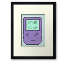 Pixel Gameboy - GAME OVER Framed Print