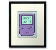 Pixel Gameboy - GAME OVER Framed Print
