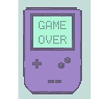 Pixel Gameboy - GAME OVER Photographic Print