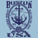 usa boston, ma tshirt by rogers bros by usanewyork