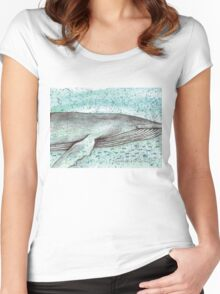 Whale vector Women's Fitted Scoop T-Shirt