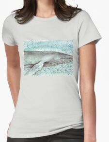 Whale vector Womens Fitted T-Shirt