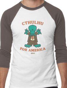 Cthulhu for America 2016 Men's Baseball ¾ T-Shirt