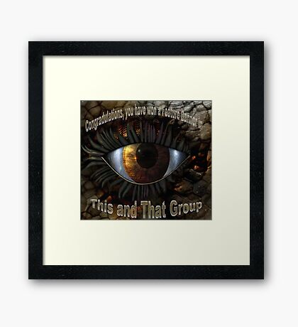 This and That Feature Banner Framed Print