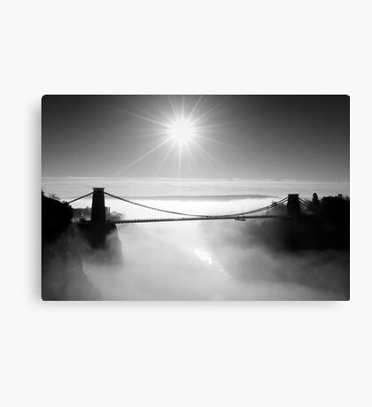 Clouds under the Clifton Suspension Bridge Canvas Print