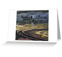 Bend In The Track Greeting Card