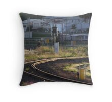Bend In The Track Throw Pillow