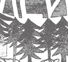 Walden (grey) Sticker