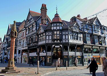 Chester Cross, Chester, Cheshire, UK by AnnDixon