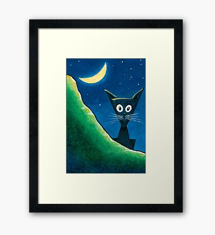 Black Cat, White Cat - Panel 1 Framed Print