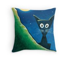 Black Cat, White Cat - Panel 1 Throw Pillow