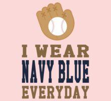 I Wear Navy Blue Everyday Baby Tee