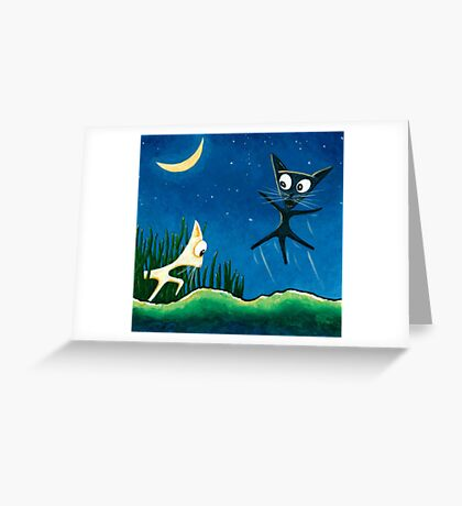 Black Cat, White Cat - Panel 2 Greeting Card