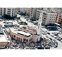 Friday prayer in Mangaf, Kuwait Photographic Print