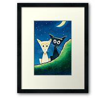 Black Cat, White Cat - Panel 3 Framed Print