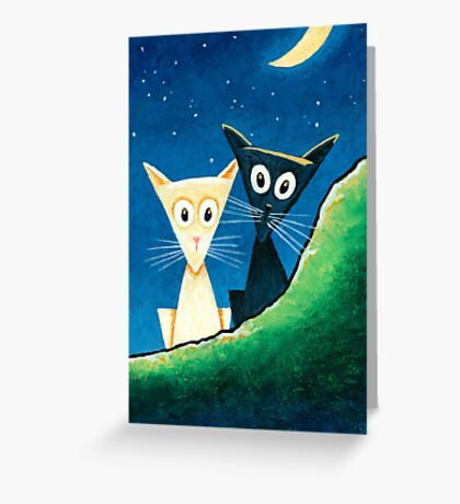 Black Cat, White Cat - Panel 3 Greeting Card