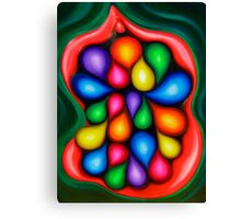 """""""Tooty Fruity"""" - colorful abstract expressionistic oil painting Canvas Print"""