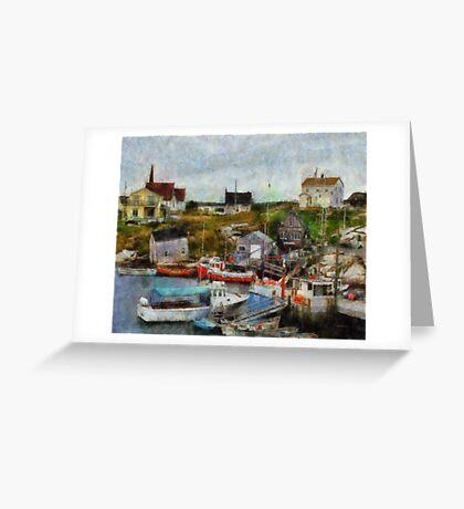 Nova Scotia Peggy's Cove Greeting Card