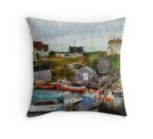 Nova Scotia Peggy's Cove Throw Pillow