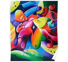"""Preconceptions"" - colorful abstract expressionistic oil painting Poster"