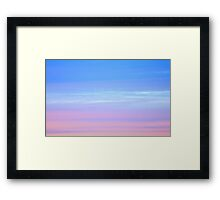 Afterglow in pastel colours Framed Print