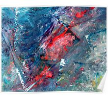 """Cityscape Reflections"" - abstract expressionistic oil painting Poster"