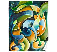 """El Arte del Sonido"" - abstract expressionistic oil painting Poster"
