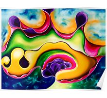 """Island Life"""" - colourful abstract impressionistic oil painting Poster"""
