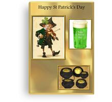 Green Beer & Gold Canvas Print