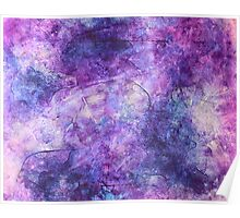 """""""Lost in Lilac"""" - abstract impressionistic oil painting Poster"""