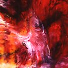 """""""The Dance"""" - abstract oil painting impression of human life energy by James  Knowles"""