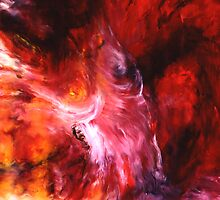 """The Dance"" - abstract oil painting impression of human life energy by James  Knowles"