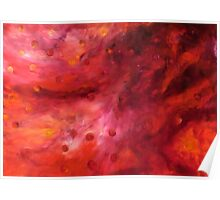 """""""Lifestream"""" - abstract oil painting impression of human life energy Poster"""
