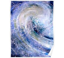 """""""Ocean Two""""- abstract oil painting impression of the ocean Poster"""