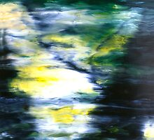 """""""Forest Three"""" - abstract oil painting impression of trees by James  Knowles"""