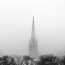 Chalmers Wesley United Church Black and White by Yannik Hay