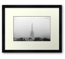 Chalmers Wesley United Church Black and White Framed Print